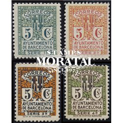 1932 Espagne 14/17 Armes Barcelona Armoiries **MNH TTB Très Beau  (Yvert&Tellier)
