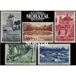 1936 Espagne 30/34 Foire Barcelone  **MNH TTB Très Beau  (Yvert&Tellier)