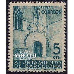1938 Espagne 38/39 Hotel Ville   *MH TB Beau  (Yvert&Tellier)