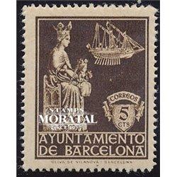 1939 España B-23  Virgen Merced Barcelona **MNH Perfecto Estado  (Edifil)