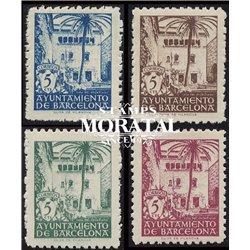 1945 Espagne 74/77 Maison Archidiacre  **MNH TTB Très Beau  (Yvert&Tellier)