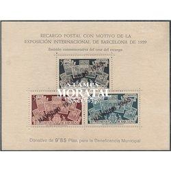 1945 España B-NE 32 HB Sellos Ayto.. Sobrecargado Barcelona **MNH Perfecto Estado  (Edifil)