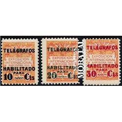 1930 Espagne 9/11 Exposition Barcelone. Surcharge Armoiries **MNH TTB Très Beau  (Yvert&Tellier)