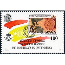1998 España F-53 Huracan Mitch Beneficencia **MNH Perfecto Estado  (Edifil)