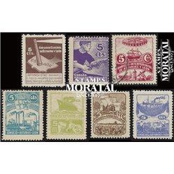 1936 España L-1/7  0 Asturias Leon *MH Buen Estado  (Edifil)