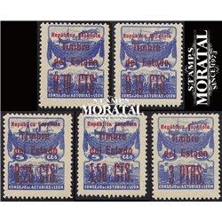 1937 España L-NE 1/5 0 Asturias Leon **MNH Perfecto Estado  (Edifil)