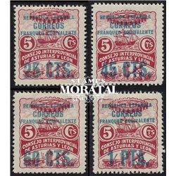 1937 España L-8/11  0 Asturias Leon *MH Buen Estado  (Edifil)