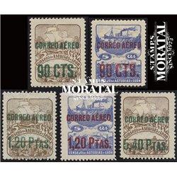 1937 España L-NE 6/8 0 Asturias Leon   (Edifil)