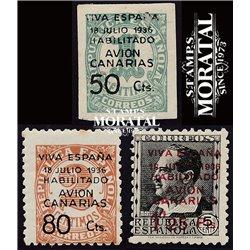1937 España C-4/6  0 Canarias *MH Buen Estado  (Edifil)