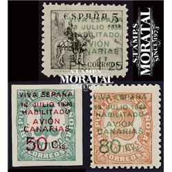 1937 España C-4/6  0 Canarias   (Edifil)