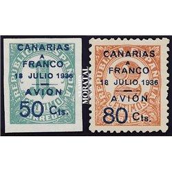 1937 España C-11A/12A 0 Canarias (*)MNG Buen Estado  (Edifil)