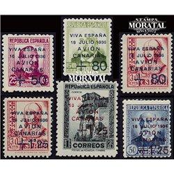 1937 España C-14/19 (18/19 **MNH) 0 Canarias (*)MNG Buen Estado  (Edifil)