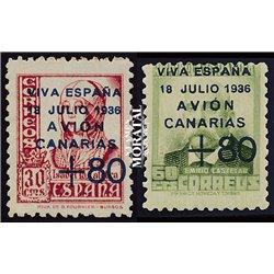 1937 España C-15A/16A 0 Canarias (*)MNG Buen Estado  (Edifil)