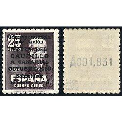 1951 Spanien 987II  Kanarische 2ª mit Nummer  ** Perfekter Zustand  (Michel)