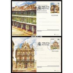 1984 España J-137/138 Badajoz Murcia Entero postales   (Edifil)