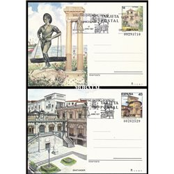 1985 España J-139/140 La Coruña Gerona Entero postales   (Edifil)