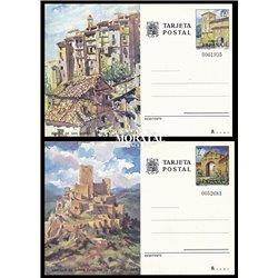 1973 España J-101/104 Barcelona Madrid Entero postales © Usado, Buen Estado  (Edifil)