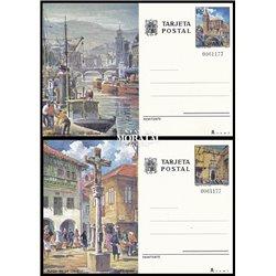 1974 España J-105/106 Valencia Caceres Entero postales   (Edifil)