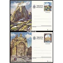 1976 España J-113/114 Bilbao Pontevedra Entero postales   (Edifil)