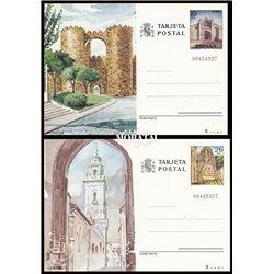 1980 España J-125/126 Castellon Huesca Entero postales   (Edifil)