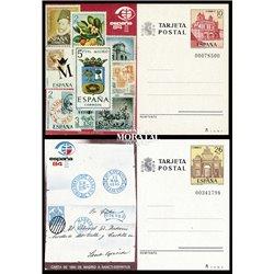 1982 España J-127/128 Albacete Toledo Entero postales   (Edifil)
