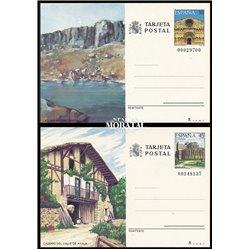 1986 España J-141/142 Ciudad Real Navarra Entero postales © Usado, Buen Estado  (Edifil)