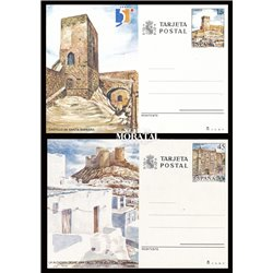 1987 España J-143/144 Malaga Santander Entero postales © Usado, Buen Estado  (Edifil)