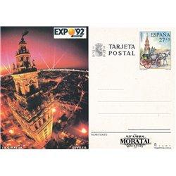 1990 España J-149/150 Alicante Almeria Entero postales © Usado, Buen Estado  (Edifil)