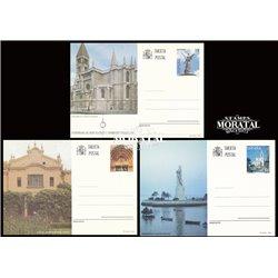 1993 España J-155/156 Orense Leon Entero postales © Usado, Buen Estado  (Edifil)