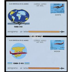 1984 España A-153/164 0 Aerogramas   (Edifil)