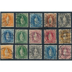 [05] 1882 Switzerland 82b, 84b, 88,94/97  © Used. Complete Series. Some stamp with super small defect. BEAUTIFUL AND VERY RARE.