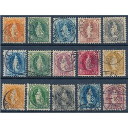 [05] 1882 Switzerland 82b, 84b, 88,94/97  © Used. Complete Series. Some stamp with super small defect. PRETTY AND VERY RARE. EXA
