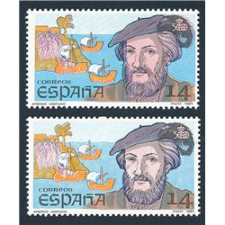 [05] 1987 Spain 2531it  ERROR. double beard. ** MNH Very Nice  . Cent. Desc.II(Scott)