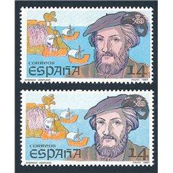 [05] 1987 Spanien 2799it  ERROR. Doppelbart. ** Postfrisch, Perfekter Zustand.  Cent. Desc.II (Michel)