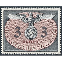 [05] 1940 GG Service  14  **MNH LUXURY  . Coat of Arms(Scott)