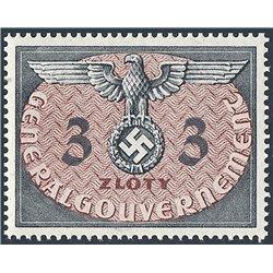 [05] 1940 GG Dienst  14  Postfrisch **MNH LUXUS.  Wappen (Michel)