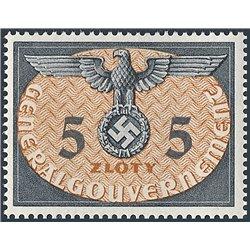 [05] 1940 GG Dienst  15  Postfrisch **MNH LUXUS.  Wappen (Michel)