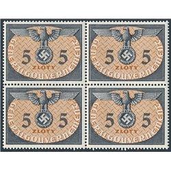 [05] 1940 GG Dienst  15  B-4 Postfrisch **MNH LUXUS.  Wappen (Michel)