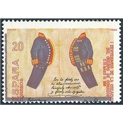 [05] 1989 Spain  2595d  ERROR. Tooth Moved. ** MNH. Perfect state  . Postman(Scott)