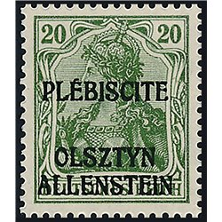 [05] 1920 Allenstein  IV  **MNH LUXURY  . Surcharge(Scott)