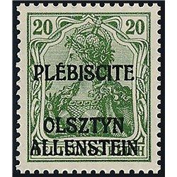 [05] 1920 Allenstein  IV  Postfrisch **MNH LUXUS.  Zuschlag (Michel)