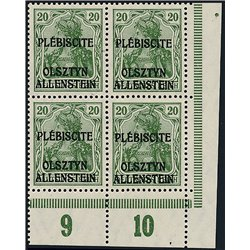 [05] 1920 Allenstein  IV  B-4 **MNH LUXURY  . Surcharge(Scott)