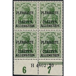[05] 1920 Allenstein  IV  B-4 Postfrisch **MNH LUXUS.  Zuschlag (Michel)