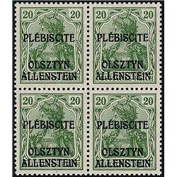 [05] 1920 Allenstein  IV  B-4 **MNH LUXURY  . Surcharge(Scott)