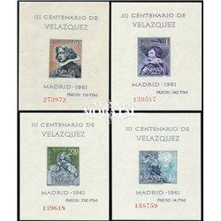1961 Spain 983a/986 Sheet Sheets Velazquez Painting **MNH Very Nice  (Scott)