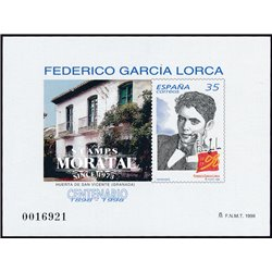 1998 Spain 0 PO Federico Lorca  **MNH Very Nice  (Scott)