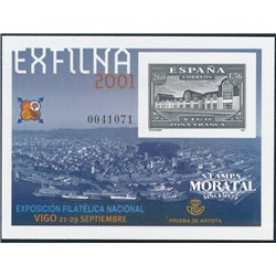 2001 Spain 0 PO Exfilna 2001  **MNH Very Nice  (Scott)