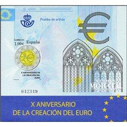 2009 Spain 0 PO X anniversary of the Euro  **MNH Very Nice  (Scott)