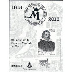 2015 Spain 0 PO 400 Years Mint  **MNH Very Nice  (Scott)