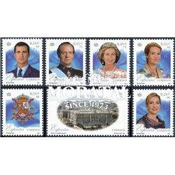2001 Spain  Sc 3132a/3132g 25 ° reign D. Juan Carlos I Kings **MNH Very Nice, Mint Hever Hinged?  (Scott)